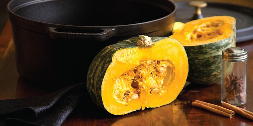 Roasted Pumpkin Soup with Toasted Pumpkin Seeds