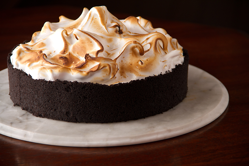 Chocolate Cream Pie with Swiss Meringue