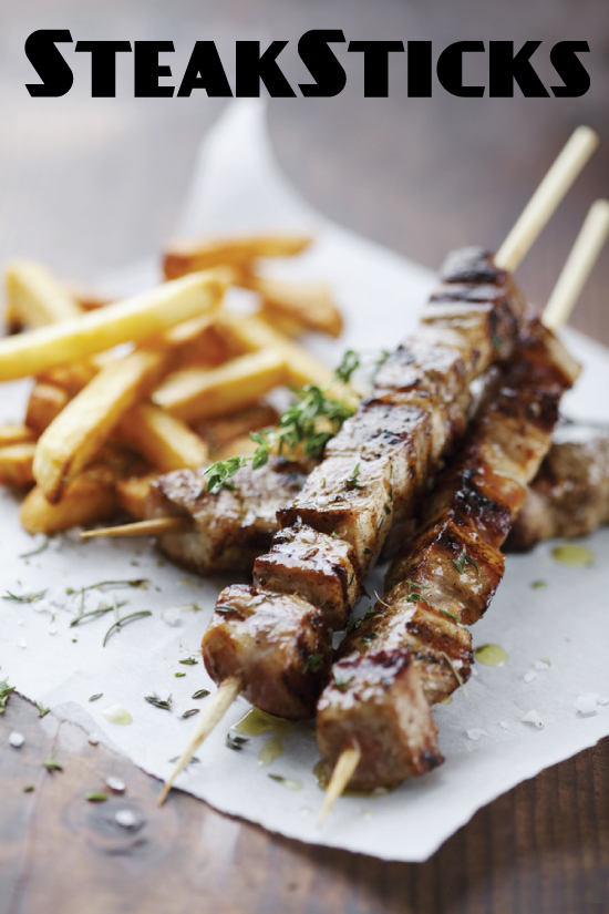 Steak Frites on a Stick
