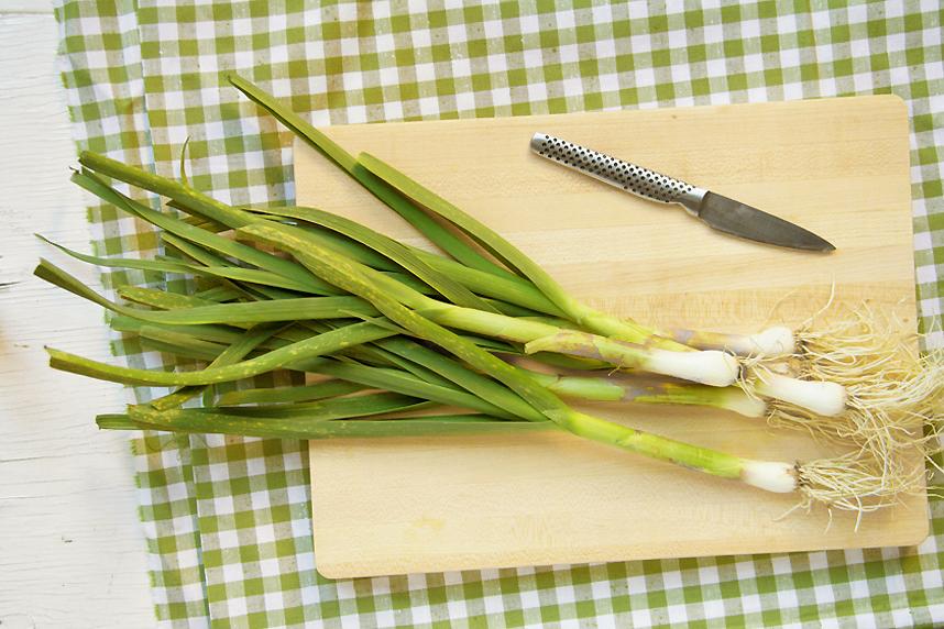 Pickled Green Garlic