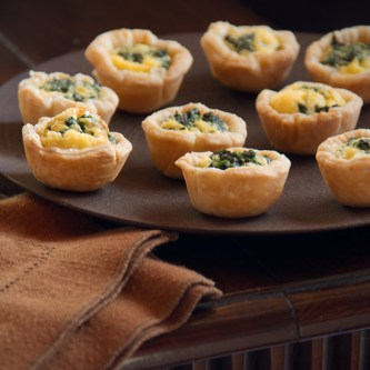 Kale and shallot mini-quiche