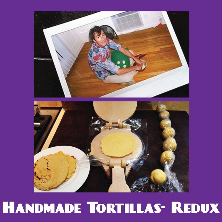 Sippity Sup makes tortillas for mushroom tacos
