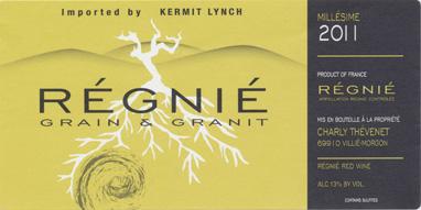 Charly Thevénet Régnié Grain & Granit, Beaujolais