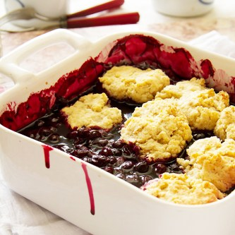 Blueberry Cobbler with Vanilla