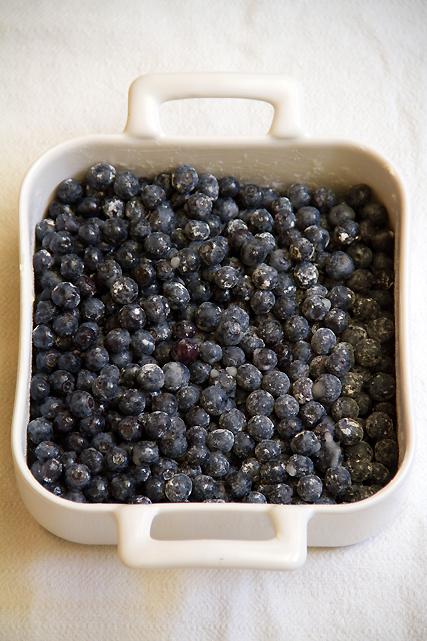 Berries for Blueberry Cobbler
