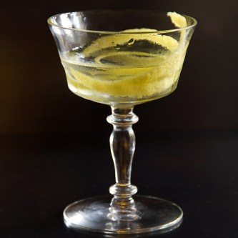 lemon-gin martini