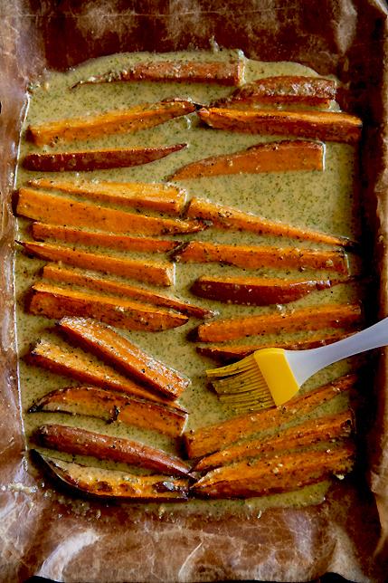 Chili-Coriander Roasted Sweet Potato Salad