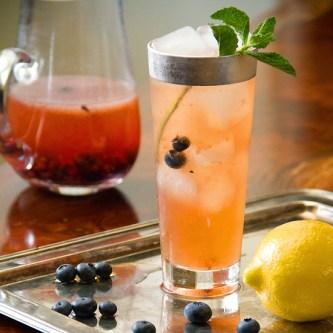 Teatime Blueberry Bourbon Cocktail