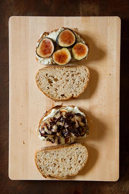 Fig sandwich with radicchio