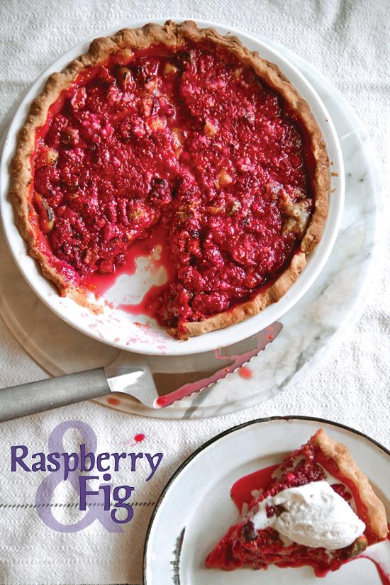 Raspberry Fig Pie