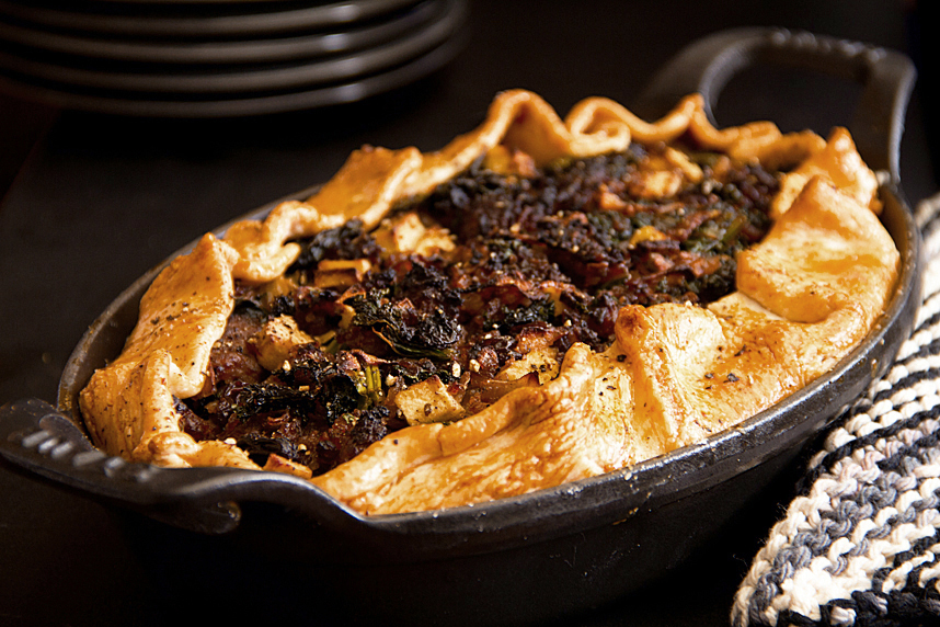 Sweet Sausage Kale Pie
