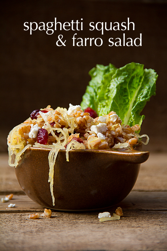 Spaghetti Squash Salad with Farro