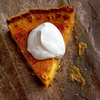 Mandarin Custard Tart with Honeyed Yougurt