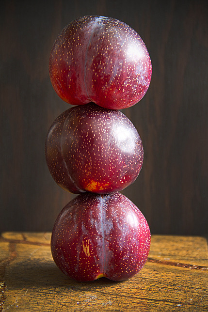 stacked plums
