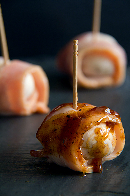 Bacon-Wrapped Mushrooms with Smoky Date Not Ketchup