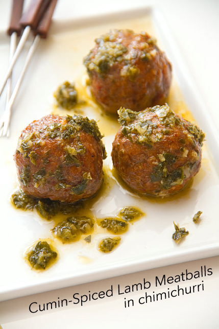 Lamb Meatballs in Chimichurri