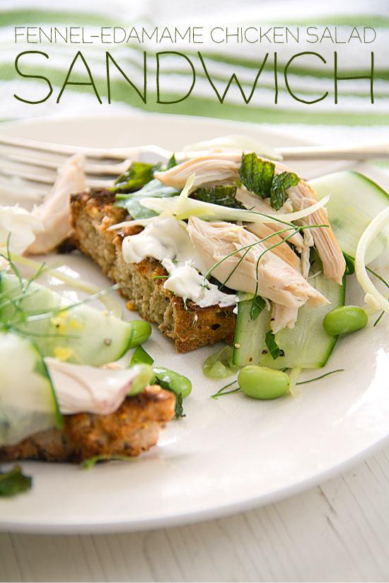Fennel-Edamame Chicken Salad Sandwich