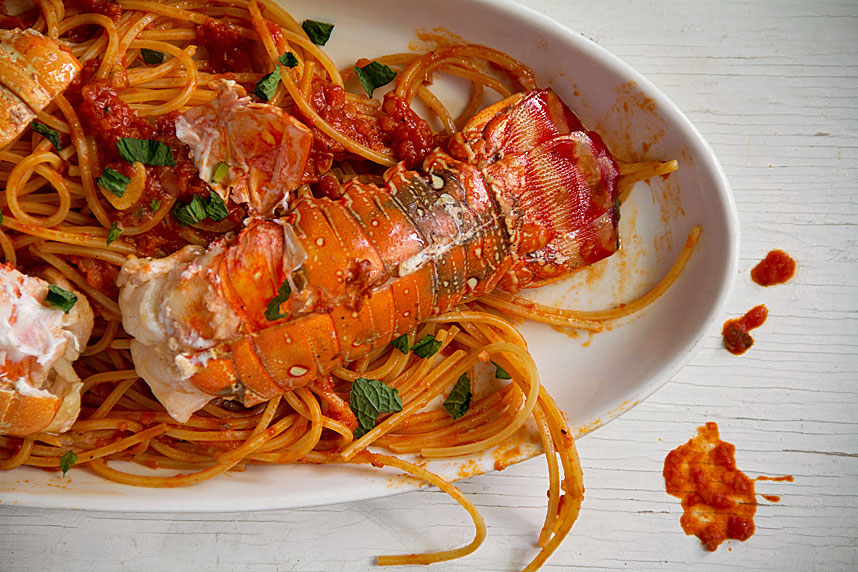 Lobster Spaghetti is Messy Fun - SippitySup