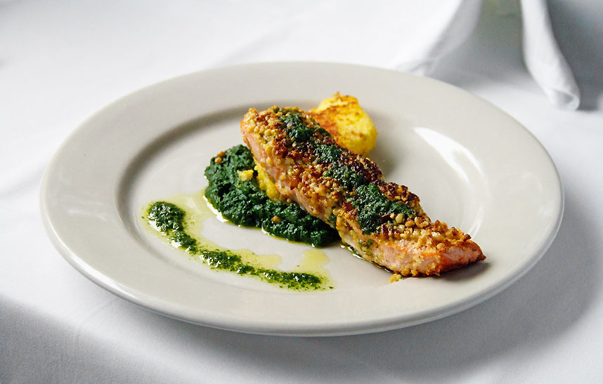 Pine Nut-Crusted Salmon from Little River Inn