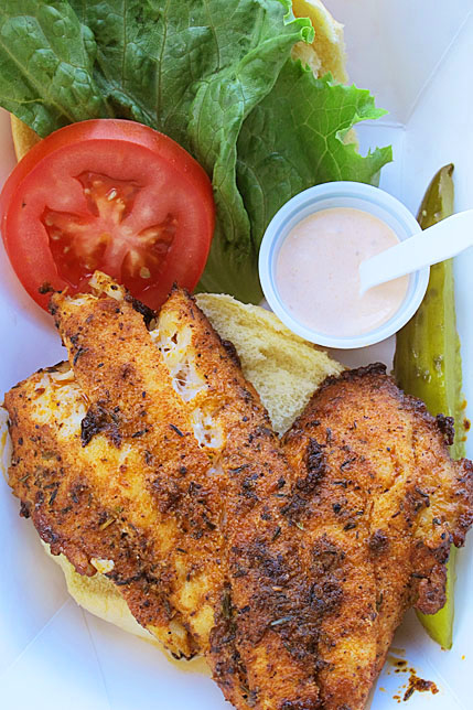 Grouper sandwich, Maximo Seafood Shack