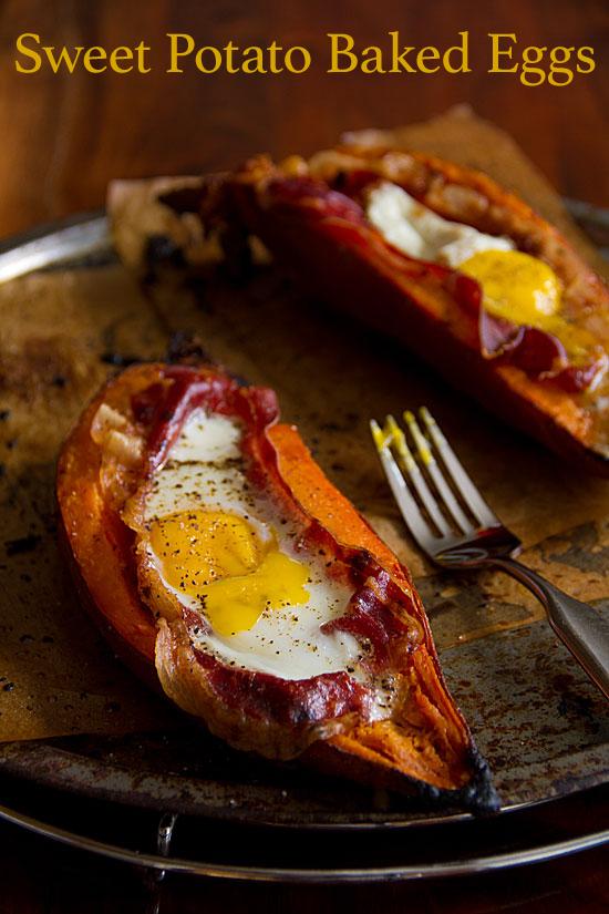 Sweet Potato Baked Eggs