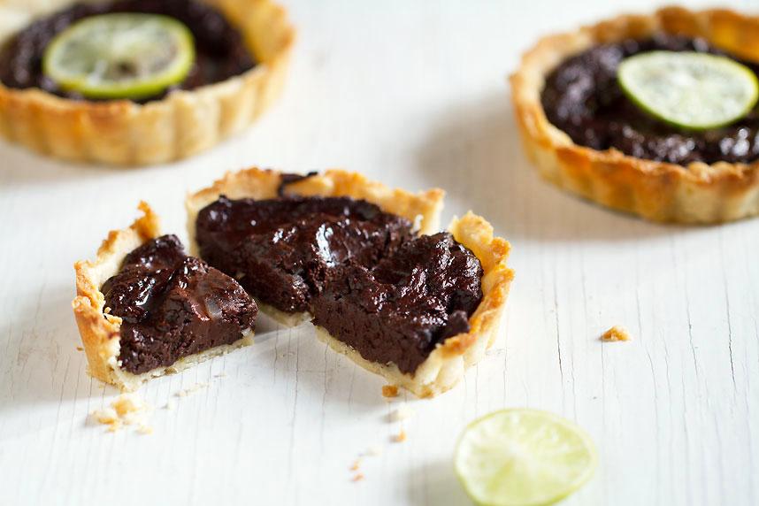 Chocolate-Lime Tarts