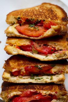 Grilled Cheese with Marinated Tomatoes