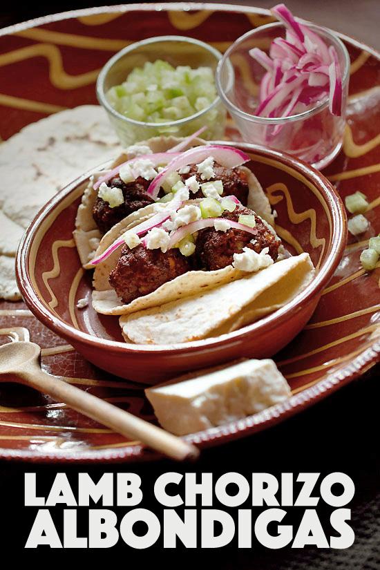 Lamb Albondigas Tacos with Fresh Tomatillo
