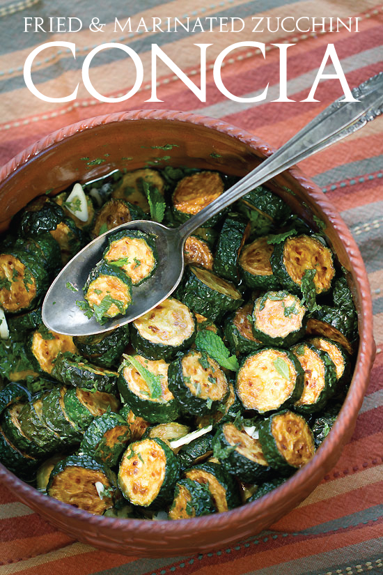 Tasting Rome: Concia, Fried and Marinated Zucchini