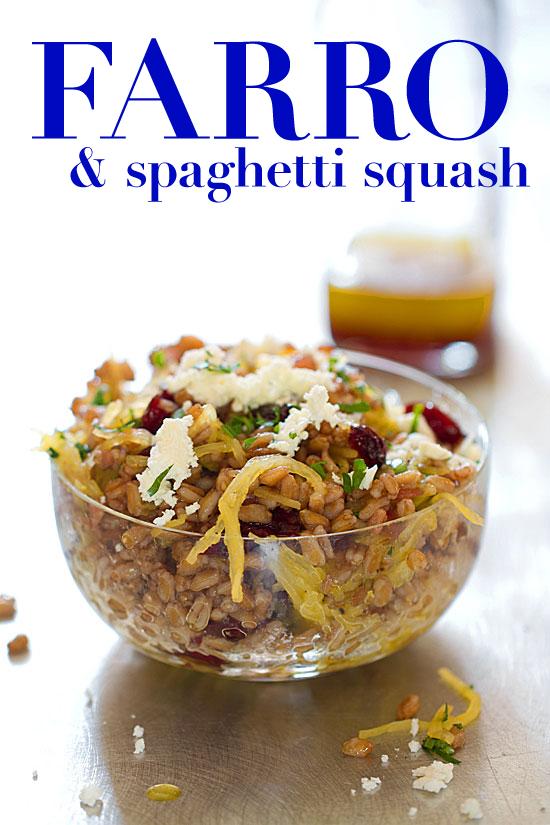 Farro Salad with Spaghetti Squash