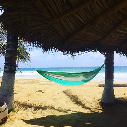Big Corn Island Hammock on Long Beach