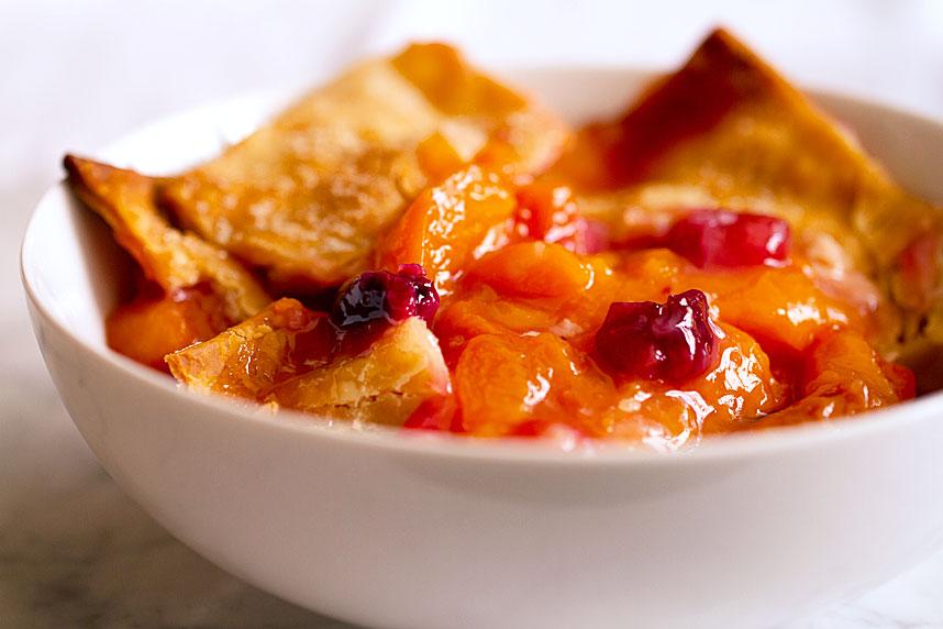 Apricot Cherry Crisp