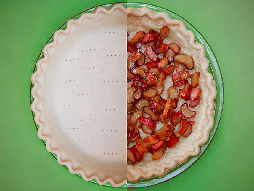 Rhubarb Chess Pie