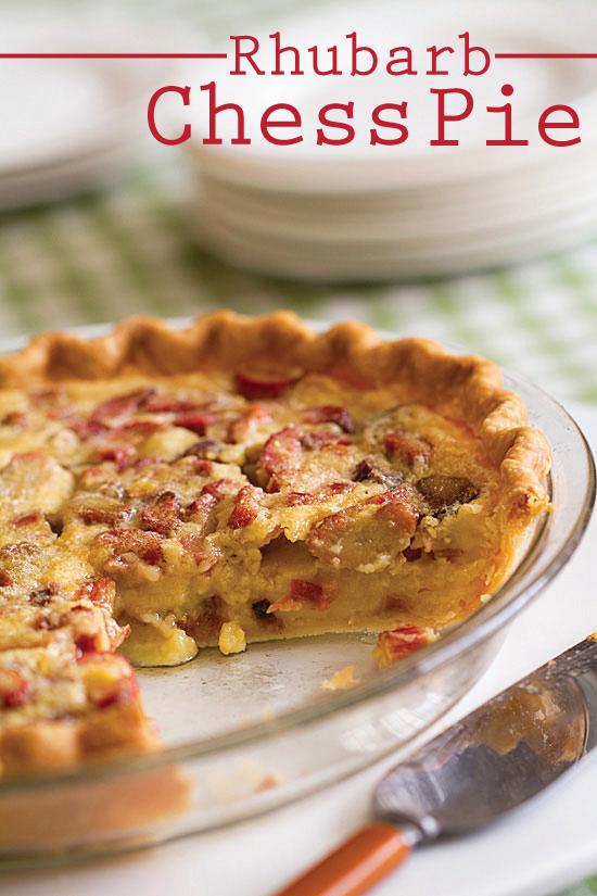 Rhubarb Chess Pie