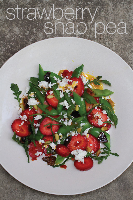 A Strawberry Snap Pea Salad with Calabrian Chiles