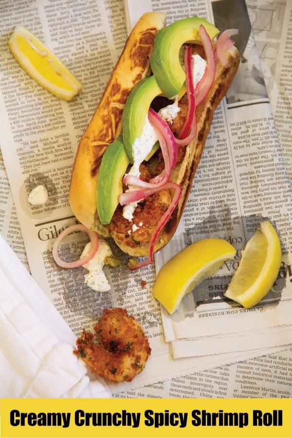 Creamy Crunchy Spicy Summer Shrimp Roll