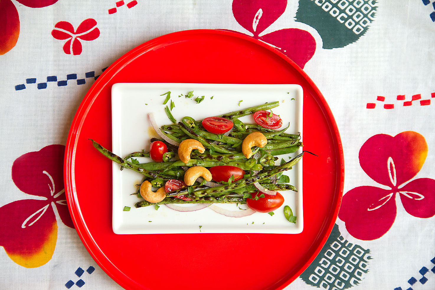 Spicy Grilled Green Beans