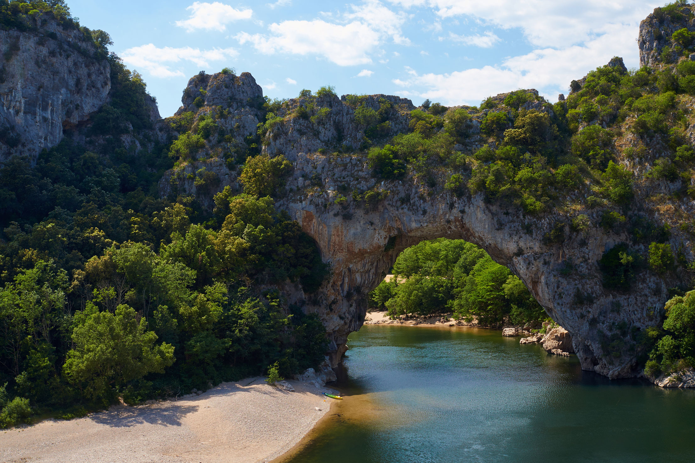 The Ardèche in the Rhône-Alps, France