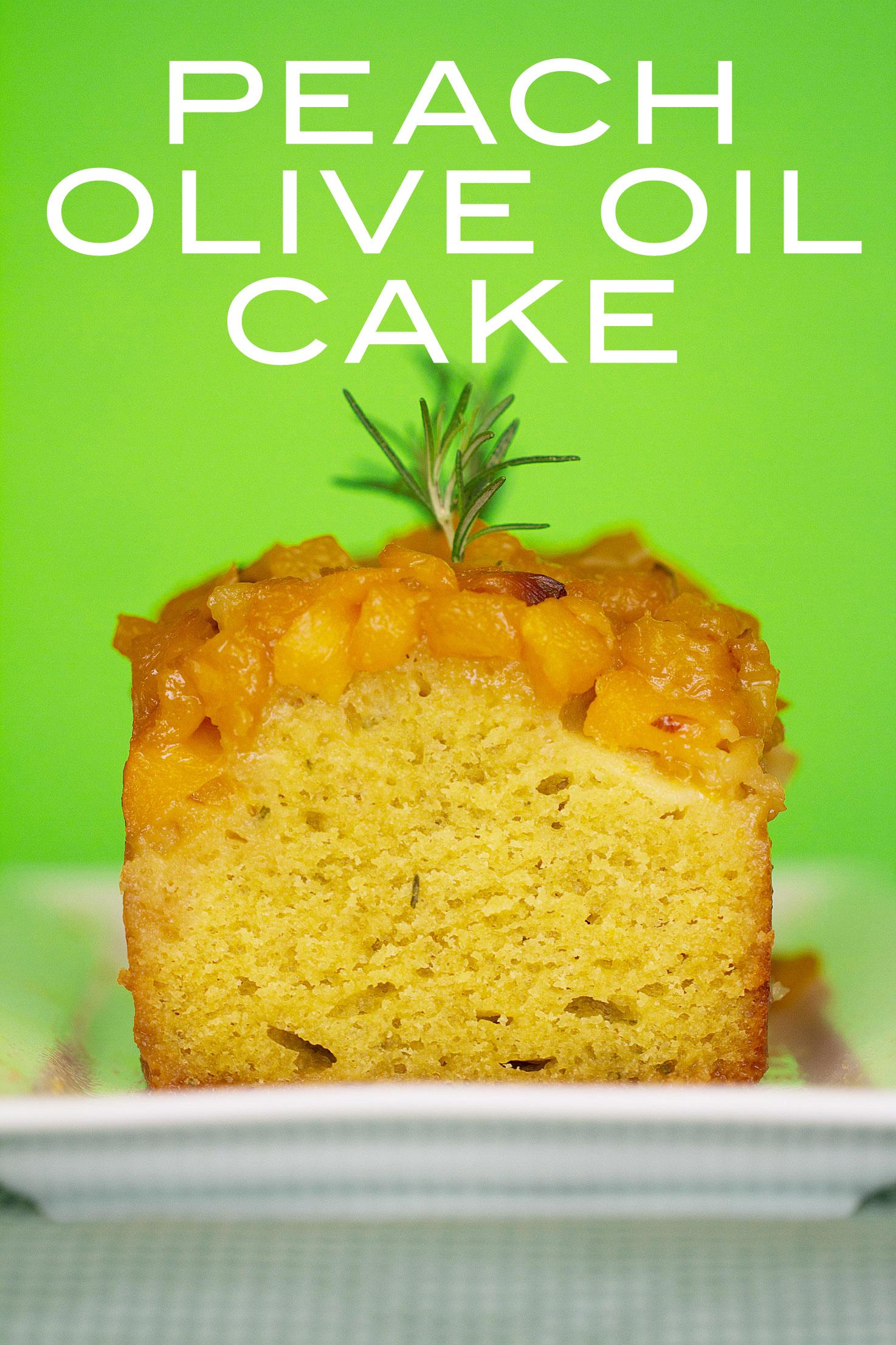 Peach Oil and Vinegar Cake
