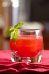 Summer Bourbon Cocktail with Raspberries