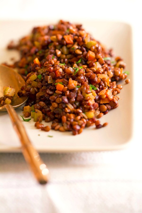 Caramelized Lentils du Puy