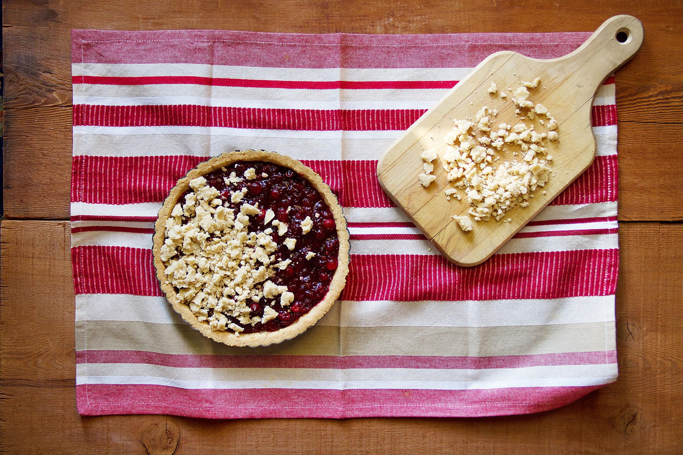 Cranberry Shortbread Tart