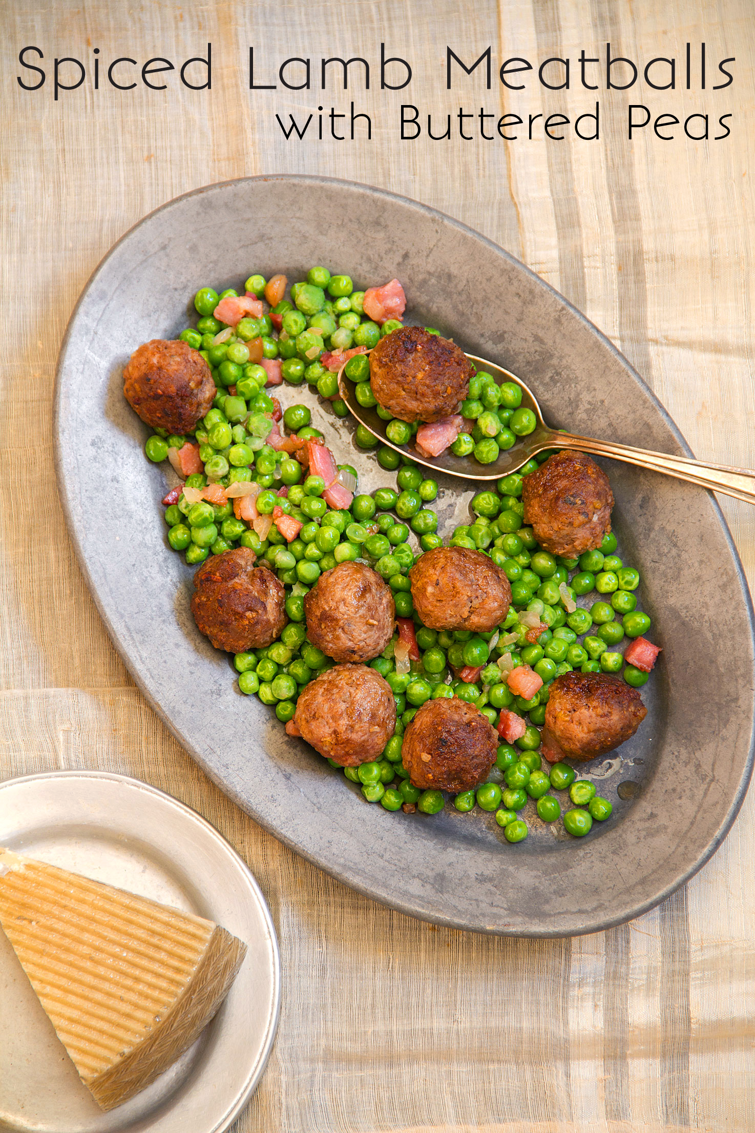 Spiced Lamb Meatballs with Hot Buttered Peas