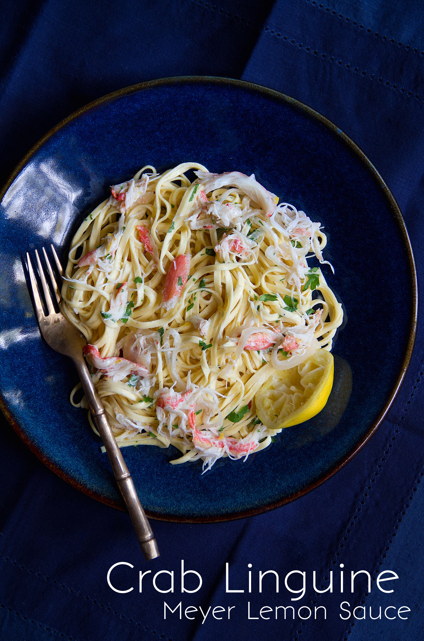 Crab Linguine with Meyer Lemon Sauce