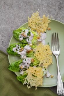 Little Gem Salad with Creamy Walnut-Apple Dressing