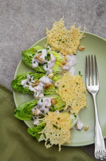 Little Gem Salad with Creamy Walnut-Apple Dressing