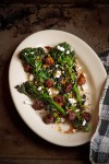 Grilled Broccolini with Cherry, Chile, and Feta