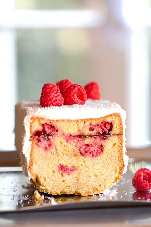 Brown Sugar Pound Cake with Raspberries
