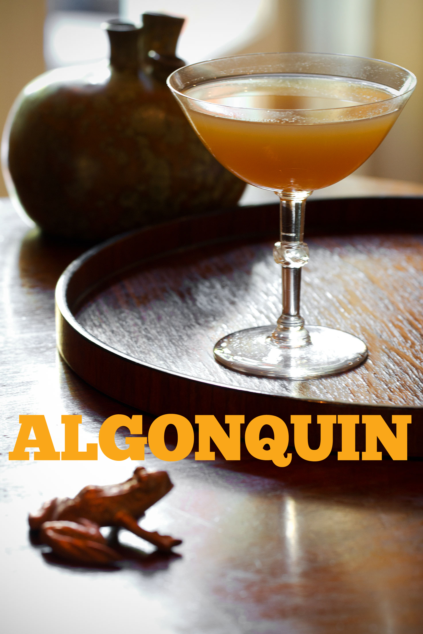Algonquin Cocktail: Rye, Vermouth, and Pineapple Juice