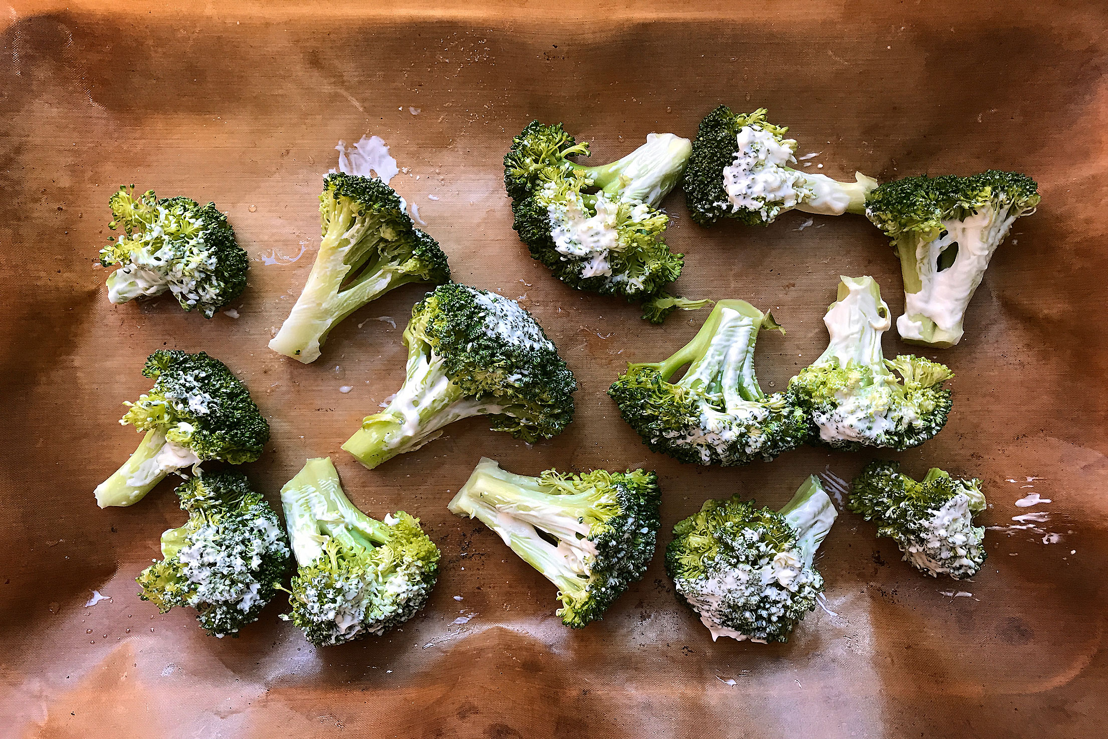 Broccoli ready for the grill